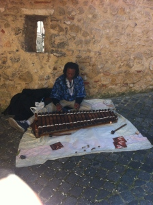 This is Bubacar, playing the xylophone.