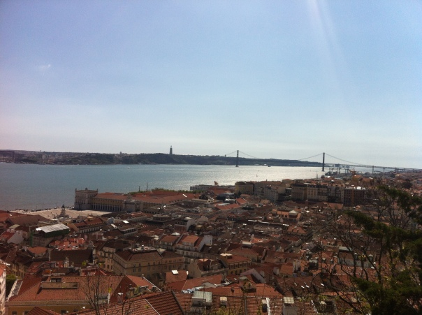 Tagus River & 25 de Abril Bridge (Ponte 25 de Abril), one of many views from the castle.
