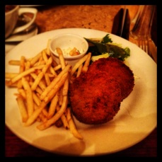 and salmon fishcakes to fill my belly.